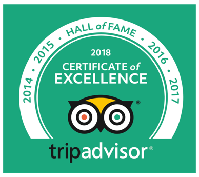 TripAdvisor Certtificate of Excellence 2018